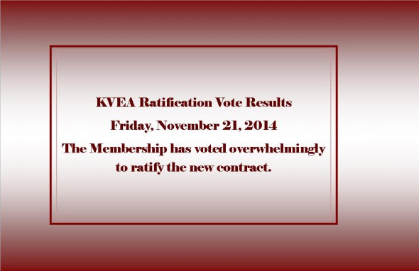 Ratification Vote Results