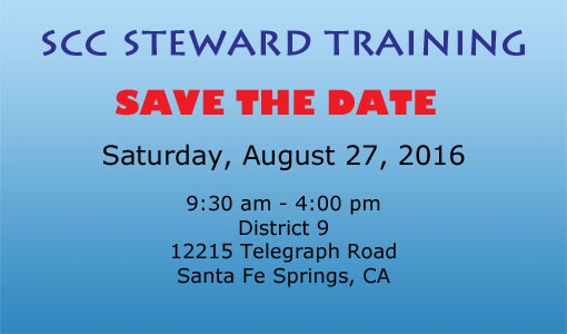 SCC Steward Training