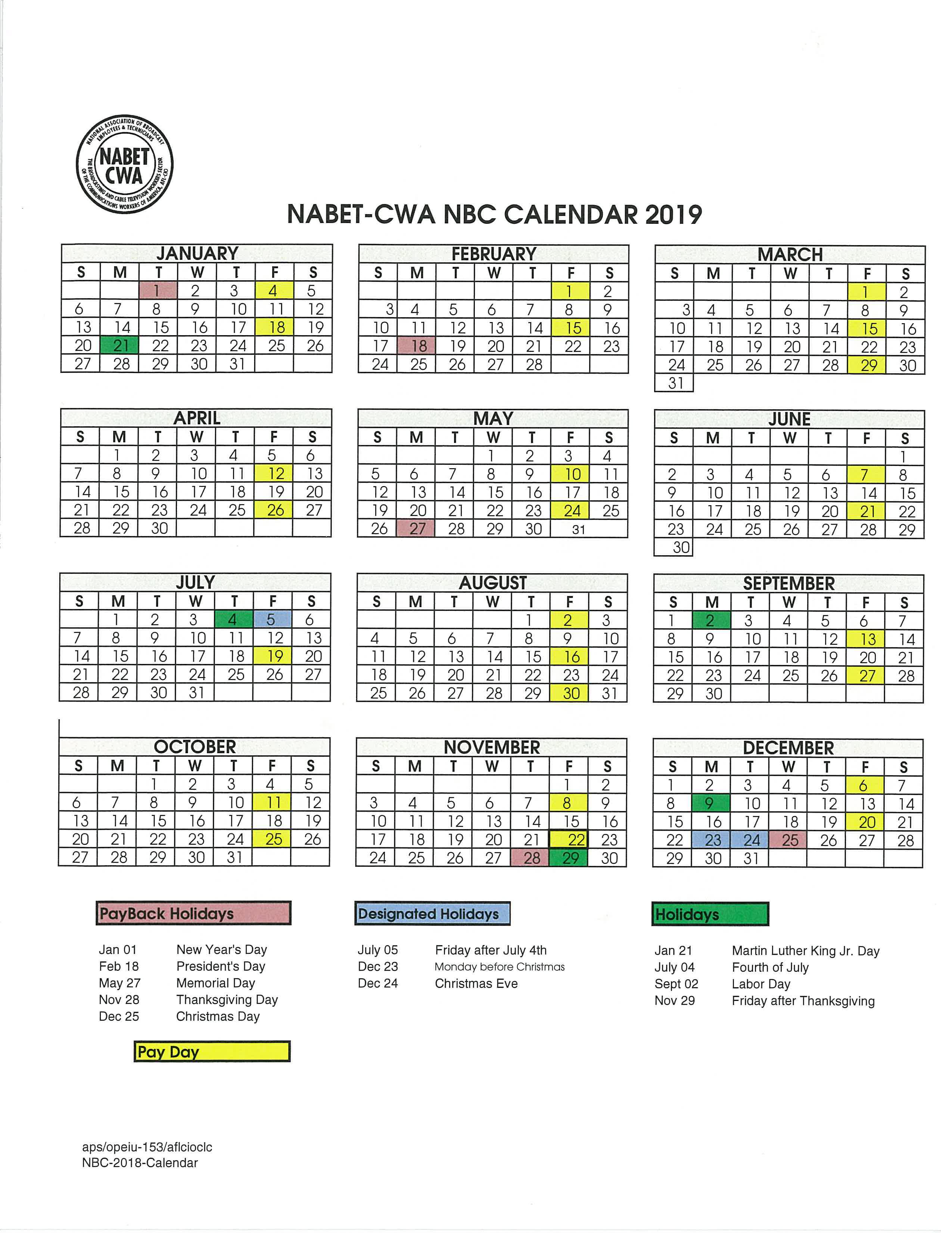 Nbc Christmas Schedule 2020 Welcome to Nabet CWA Local 53